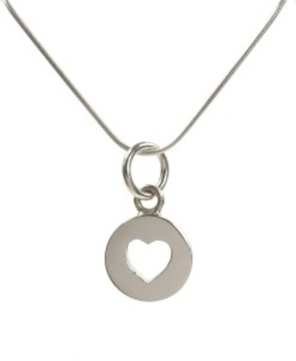 "Sterling Silver Closed Heart Pendant with 16 - 18"" Silver Chain"