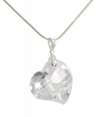 Clear CZ Heart Pendant without Chain