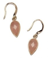 Sterling Silver and Rose Quartz Small Faceted Teardrop Earrings