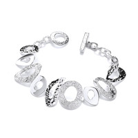 Organic Silver Curls and Curves Bracelet