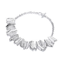 Curves of Decadence Silver Necklace