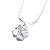 Silver Heart Cluster Pendant