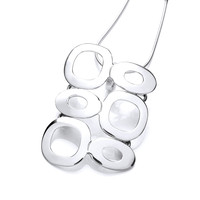 'O' So Beautiful Silver Double Pendant