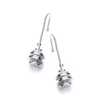 Taste of Honey Silver Drop Earrings