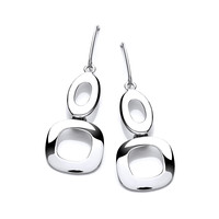 'O' So Beautiful Double Ovals Earrings