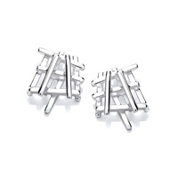 Silver Crossgate Stud Earrings