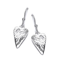 'Straight from the Heart' Silver Earrings