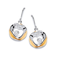 'Circled Love' Gold Vermeil and Silver Earrings