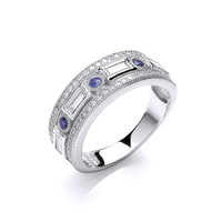 Silver and Cubic Zirconia Deco Style Ring