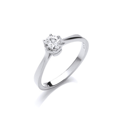 The Perfect Cubic Zirconia Solitaire Ring