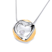 'Circled Love' Gold Vermeil and Silver Pendant