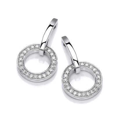 Sparkling Circle Earrings