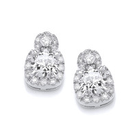 Cute Pom Pom and Cushion Stud Earrings