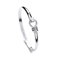 Fine Sterling Silver Clip Bangle