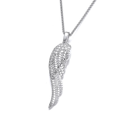 Silver Angel Wing Pendant without Chain