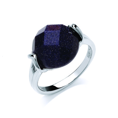 Blue Sandstone Beauty Ring