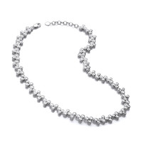 Graceful Dance Cubic Zirconia Necklace