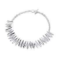 Silver Ink Quills Necklace