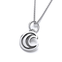 Silver Eclipse Moon Pendant