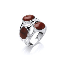 Red Jasper Rounds Ring