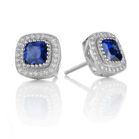 Sapphire Blue Beauty Earrings