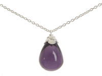 Sterling Silver and Amethyst Teardrop Necklace