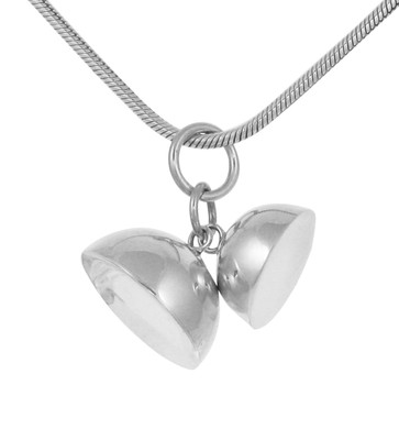 "Sterling Silver Three Bells Pendant with 18 - 20"" Silver Chain"