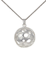 Silver ball pendant with circles