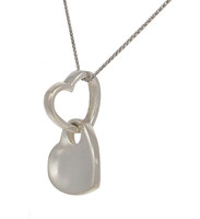 Looped silver heart pendant
