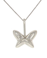 Silver shaped butterfly pendant