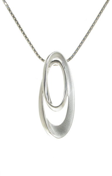Sterling Silver Swirls Pendant without Chain