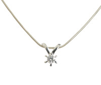 Sterling Silver and CZ Shooting Star Pendant