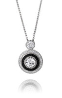 Elegant Silver and CZ Evening Pendant