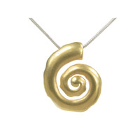 Silver and gold vermeil spiral pendant