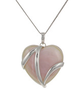 Sterling Silver and Pink Mother of Pearl Heart Pendant