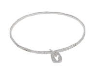 Have a Heart Silver Bangle