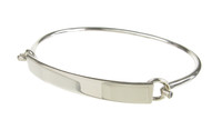 Sterling Silver Unclip Panel Bangle