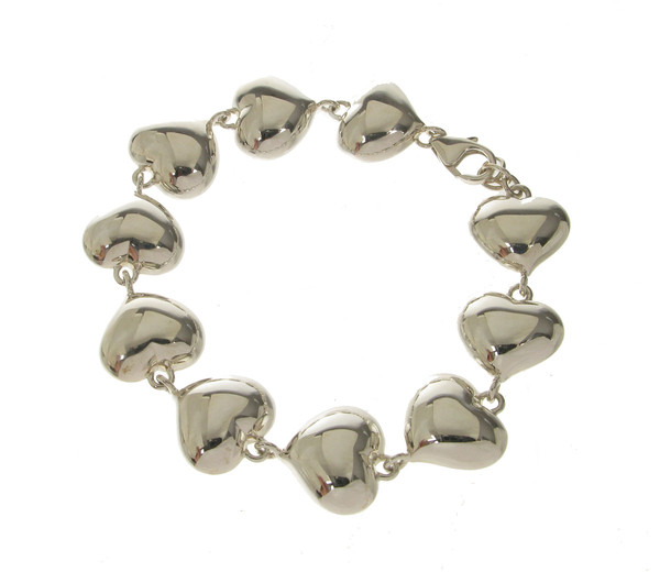Full of Hearts Silver Bracelet