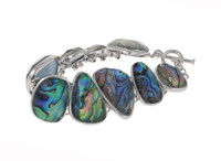 Abalone and Silver Pebbles Bracelet