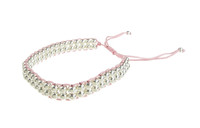 Double Strand Sterling Silver Bead Friendship Bracelet