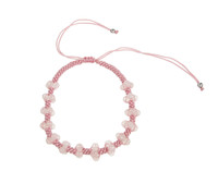 Rose Quartz Beaded Plait Friendship Bracelet
