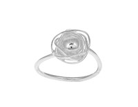 Sterling Silver Nested Ball Ring