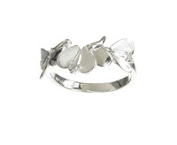 Sterling Silver Abstract Angel Wings Ring