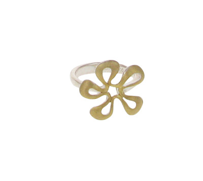 Silver and Gold vermeil flower ring