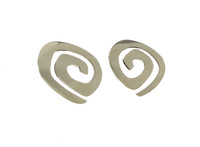 Sterling Silver Flat Maze Earrings