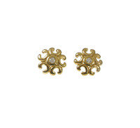 Gold Vermeil Pretty Filigree Earrings