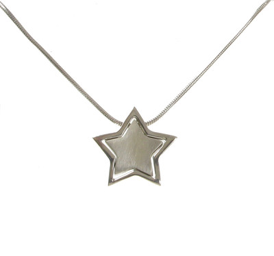Sterling Silver Friendship Star Pendant without Chain