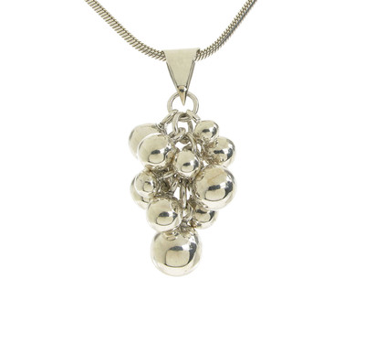 "Sterling Silver Bauble Cluster Pendant with 18 - 20"" Silver Chain"