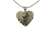 All the Hearts' Silver and Gold Vermeil Pendant