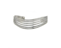 Sterling Silver Six Split Bangle